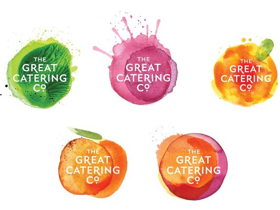 The Great Catering Company - Simple Logo... but the different backgrounds make it fun & allow for diverse applications.