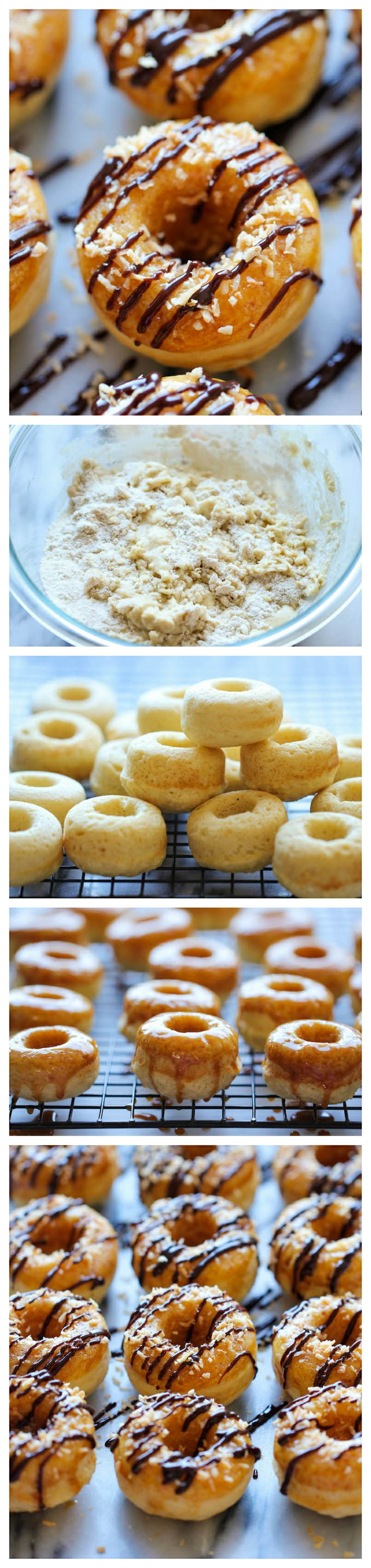 Mini Samoa Donuts - The Girl Scout favorite is turned into an irresistible mini donut form. And it tastes so much better than the original! Check more at http://blog.blackboxs.ru/category/cooking/