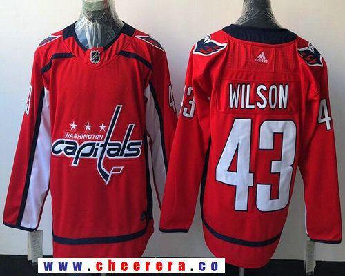 san francisco aec9b 5cd89 Men's Washington Capitals #43 Tom Wilson Red Home 2017-2018 ...