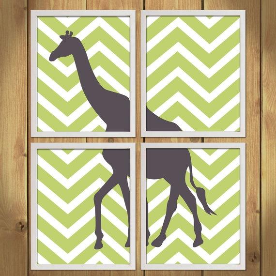 Animal Nursery Art Print  Chevron Giraffe by MadeForYouPrints, $42.95Nursery Art, Art Prints, Animal Nurseries, Art Nurseries, Baby Room, Nurseries Art, Chevron Giraffes, Prints Chevron, Nurseries Ideas