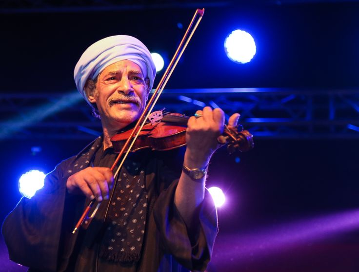 Salama Metwally tout sourire pendant le concert © Benjamin Favier