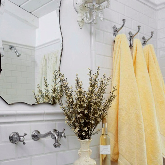 Best Fluffy Towels Images On Pinterest Bathroom Towels - Yellow bath towels for small bathroom ideas
