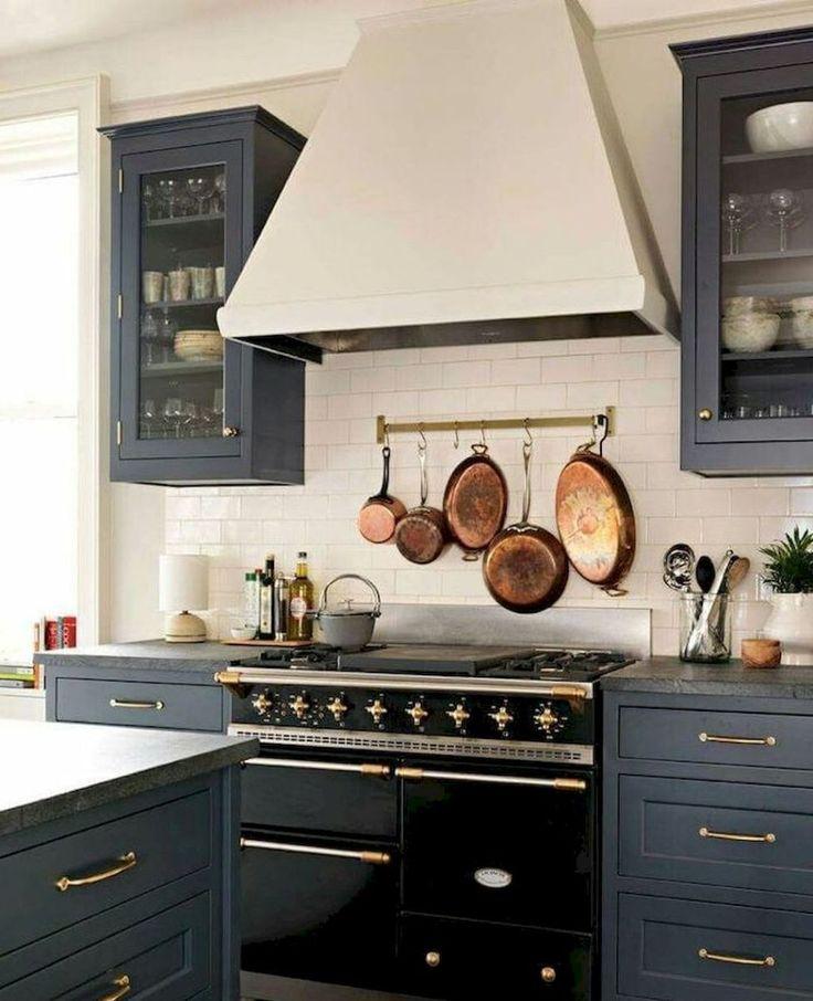 Gorgeous farmhouse gray kitchen cabinets ideas 39