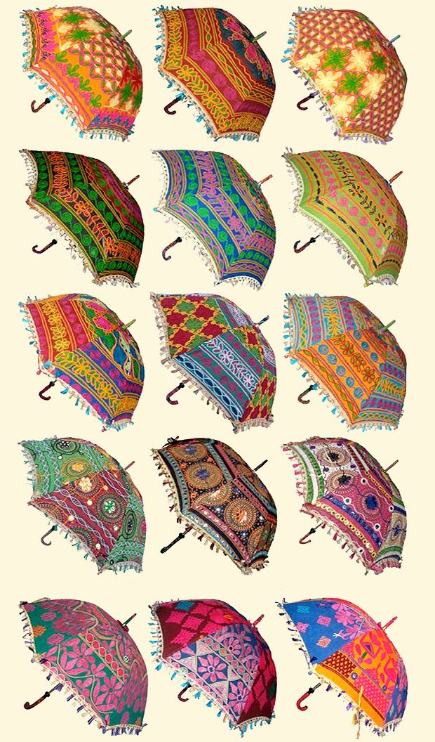 Parasols please-totally need one of these to protect my delicate skin fromt he hot AZ sun!