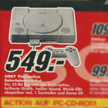 On the image board program, someone has uploaded a 20-year-old Media Markt prospectus. The offers seem like from another time.
