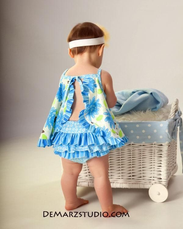 Girl Ruffle Dress Patterns Free | Ruffled Open Back ... by tiedyediva | Sewing Pattern