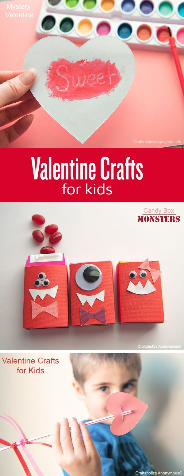 Kids Valentine Crafts. Easy to make! Would make a fun afternoon project with the kiddos.