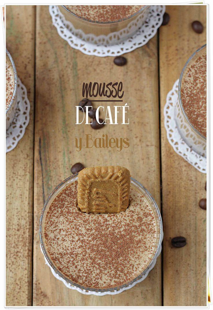 Mousse de café y Baileys {by Paula, Con las Zarpas en la Masa}