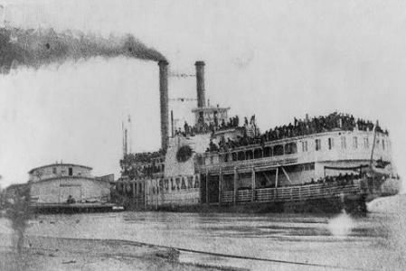 Sultana: On April 27, 1865, the Sultana, a steamboat on the Mississippi River near Memphis, USA, was destroyed by a boiler explosion. This w...