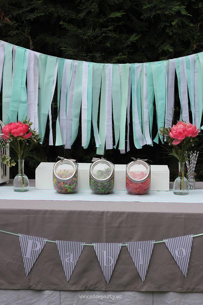 Nice Party: Una comunión en gris y menta   Niceparty