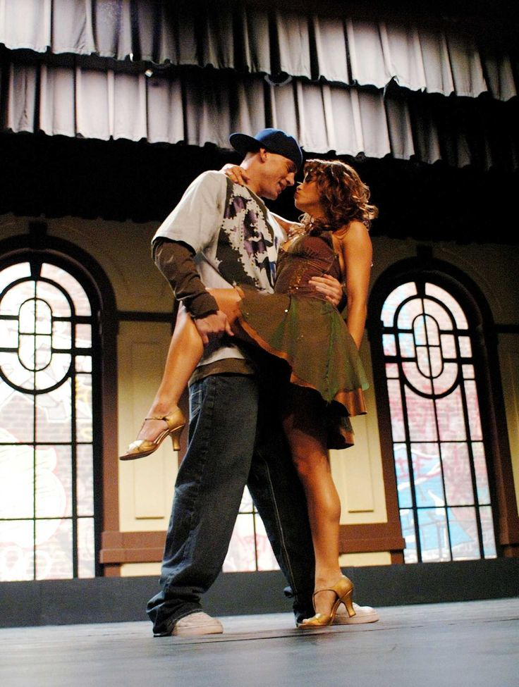 Channing Tatum star as Tyler Gage and Jenna Dewan as Nora in Touchstone Pictures', Step Up - 2006
