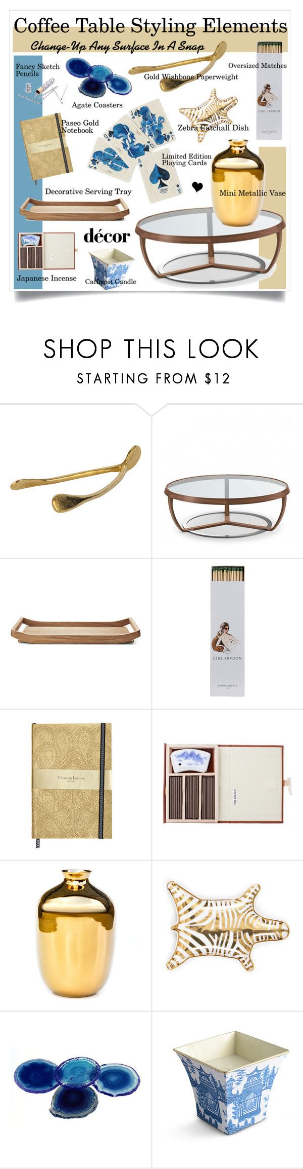 """Coffee Table Styling Elements"" by elske88 ❤ liked on Polyvore featuring interior, interiors, interior design, home, home decor, interior decorating, Bohemia, Jayson Home, Tonon and Georg Jensen"