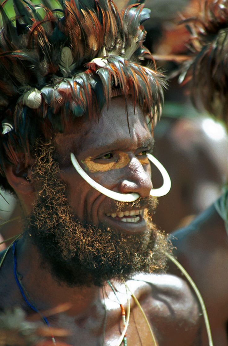 Papua (West Papua) Dani warrior.