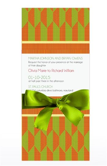 KISI -KENTE CLOTH INSPIRED WEDDING INVITATION With a nod the the royal Ashanti cloth, this customizable Kente cloth inspired wedding on this invitation set the tone for a colorful, stylish African American or an African inspired wedding. $2.75