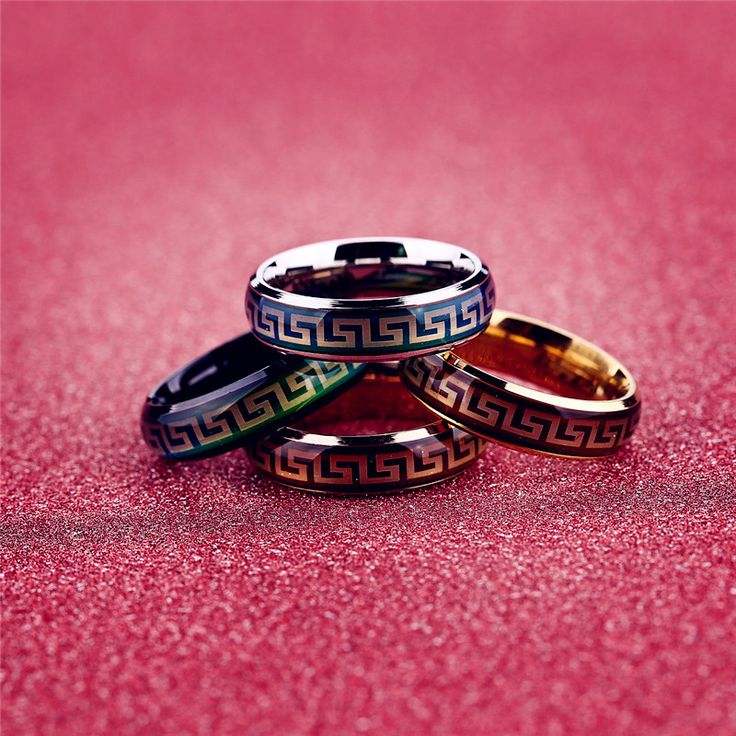 Fashion Hollow Rings Silver Rose Gold Stainless Steel Emotion Temperature Greatwall Charms Mood Rings Jewelry For Women Men