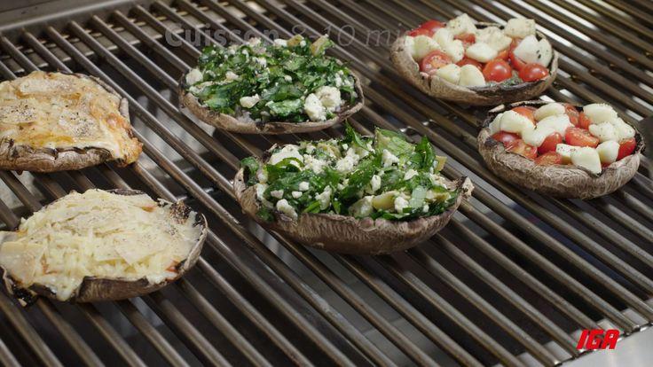 Trucs et astuces IGA : Trio de portobellos farcis sur le barbecue