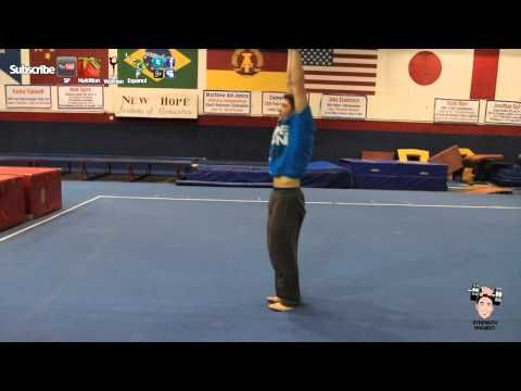 How can you learn to do a back handspring on your own?