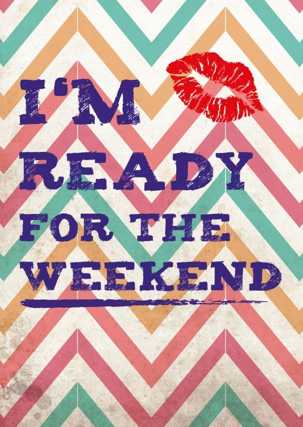 I'm ready for the weekend | Wochenende | Echte Postkarten online versenden…