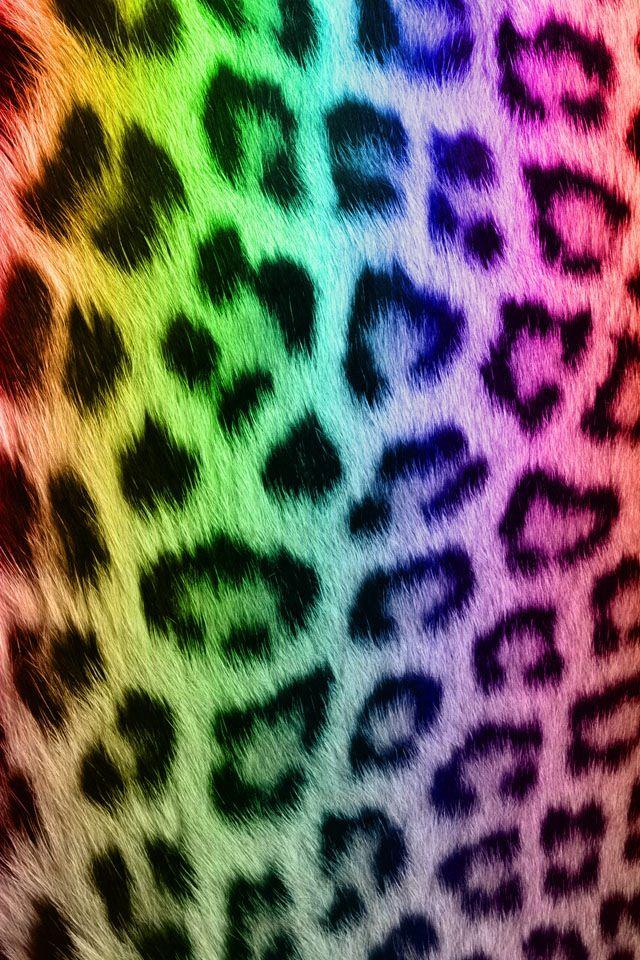 Rainbow leopard print | Colorful wallpaper | Pinterest