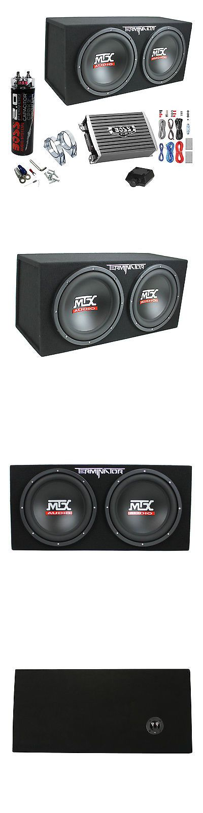 Speaker Sub Enclosures: Mtx Tne212d 12 1200W Dual Loaded Subwoofer Box + 1500W Amplifier + Capacitor -> BUY IT NOW ONLY: $229.95 on eBay!