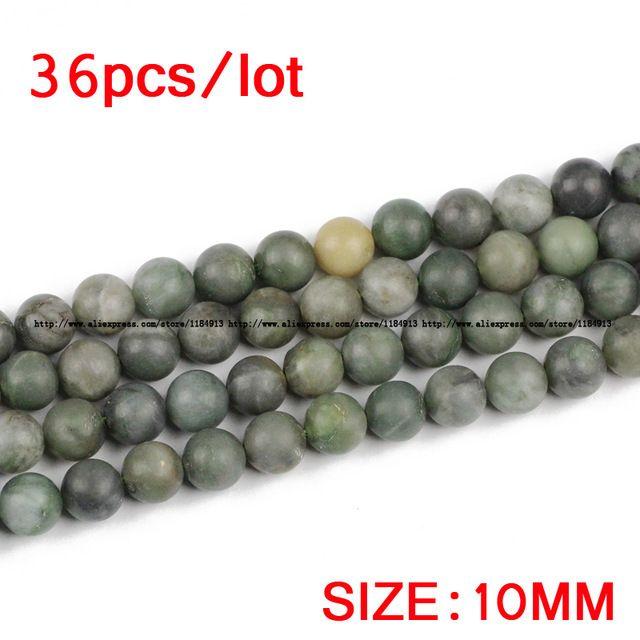 Aliexpress.com: Comprar JHNBY Mate verde Africano piedra Natural granos Flojos Redondos de Piedra de Alta calidad 6/8/10/12 MM joyería de la pulsera hacer accesorios de BRICOLAJE de accessories diy fiable proveedores en JHNBY (Johan's Beads) Store