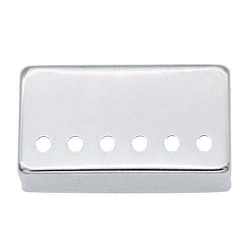 MFNY 1 Pc Guitar Humbucker Neck Guitar Pickup Covers Copper Parts of Electric Guitar Silver Color  Size: length 6.9cm, width 3.8cm, height 2cm, hole diameter 0.5cm  Suitable for a variety of styles of guitar, and looks good, sound better  High-quality products, the effect is good  They are easy to install and perfectly match the color of the shield  Before ordering any cover, please measure your pickup