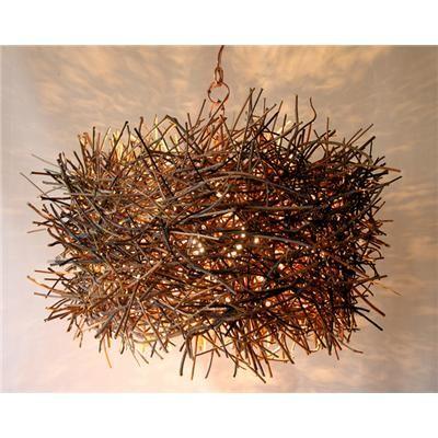 Lamp: Birdnest Lamp, Industrial, Bird Nests, Lamps Lighting, Unexpected Lampshade