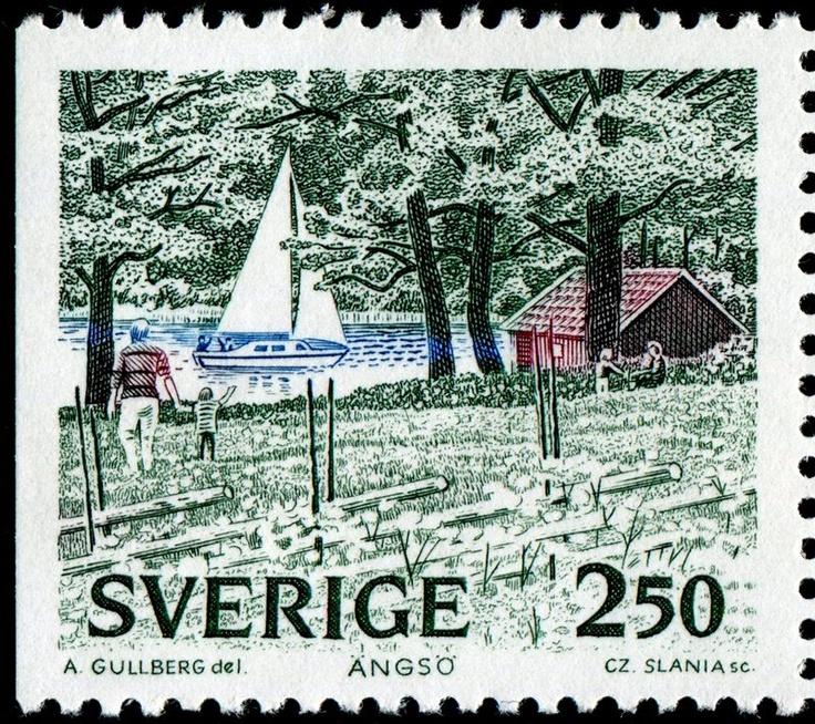 vintage Swedish stamp