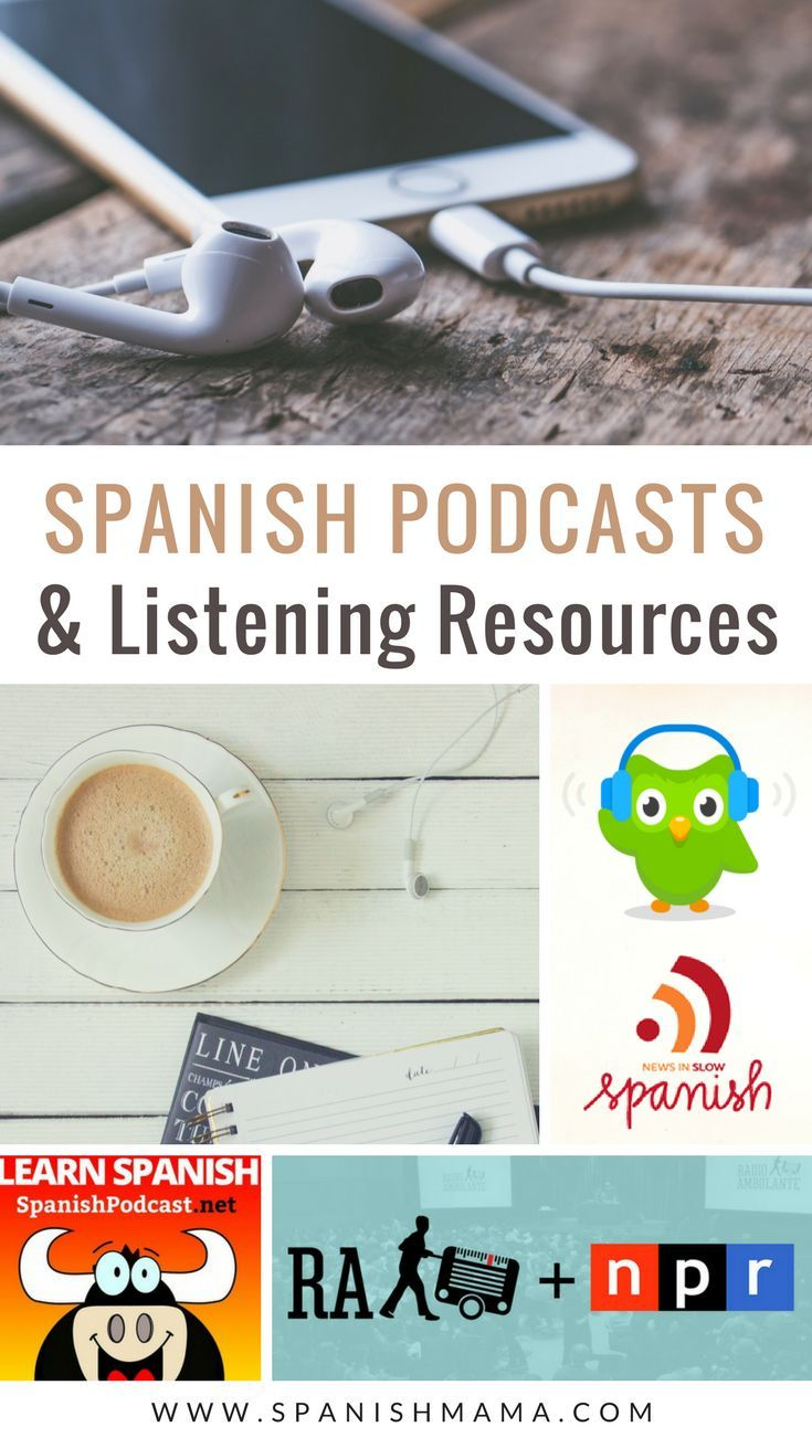 The best Spanish podcasts and listening resources for Spanish learners, teachers, and classes. Get access to native speakers and learn Spanish naturally by listening. #learnspanish #spanishpodcasts #spanishclass #teachspanishb