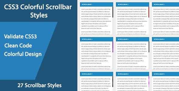 CSS3 Colorful Scrollbar Styles #BluorThemes, #Colorful, #Css, #CssScroll, #CssScrollbar, #Css3, #Css3Scroll, #Css3Scrollbar, #Scroll, #ScrollPlugin, #Scrollbar http://goo.gl/Bz3YWS