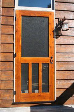 Wood Screen Door traditional screen doors....clean lines...such a simple but beautiful screen door!
