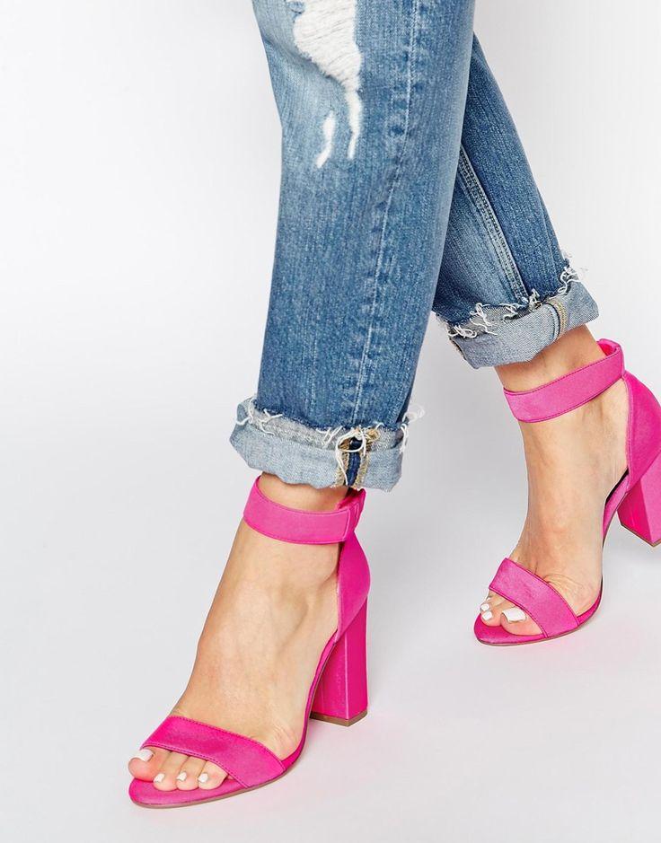 Image 1 - New Look - Sub - Sandales à talons avec brides de cheville - Rose vif