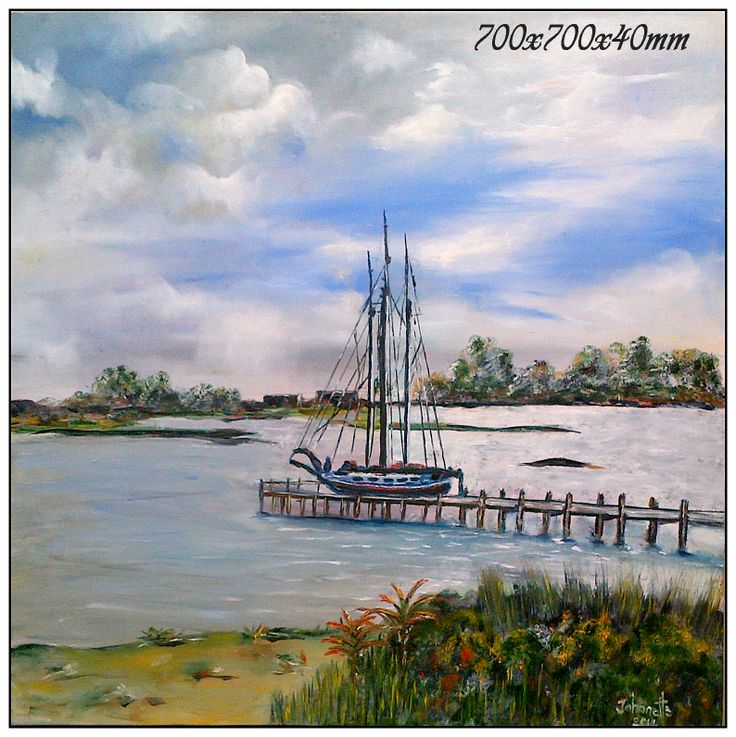 Port Owen Bergriver Resting Place  Oil Paintings Stretched Canvas 700x700x40mm (johanettevandeventer@gmail.com) (MY page where you can see all my paintings for sale:https://www.facebook.com/pages/Art-of-being-feminine/216215068495275?ref=hl https://www.facebook.com/media/set/?set=a.462889420494504.1073741855.216215068495275&type=3)