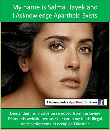 Salma Hayek - i acknowledge apartheid exists