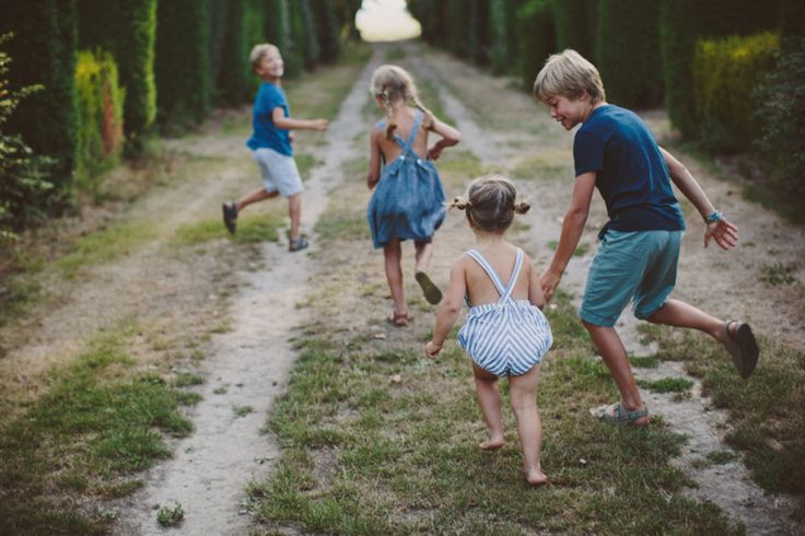 It is sometimes necessary to give kids actions rather than poses. Running away is a fun one, but remember to get them to come back!