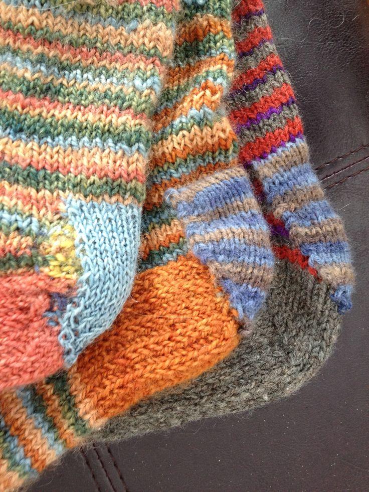 I mend socks knit of handspun.