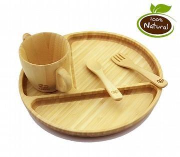 Bamboo Plate 4 Piece Set