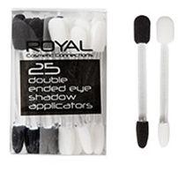 ΤαRoyal 25 Double Ended Eyeshadow Applicators είναι μία συσκευασία με 25 πινελάκια σκιών, διπλής όψης. Έχοντας στρόγγυλα και γωνιακά πινέλα, προσφέρουν άψογο αποτέλεσμα στο μακιγιάζ των ματιών σας.