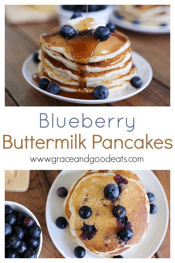 Homemade Blueberry Buttermilk Pancakes Recipe Blueberry Buttermilk Pancakes Best Breakfast Recipes Favorite Breakfast Recipes