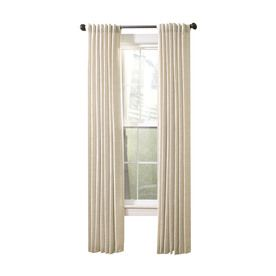 Allen Roth Evington Linen Cotton Back Tab Light Filtering Single Curtain Panel At Lowes Is A Chambray Slub Texture Fabric With Natural