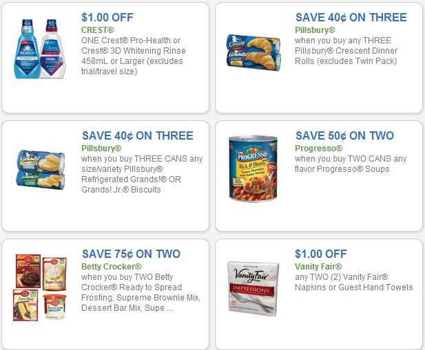 Going grocery shopping?  Check out the coupon center first.  There's currently $706 in savings!