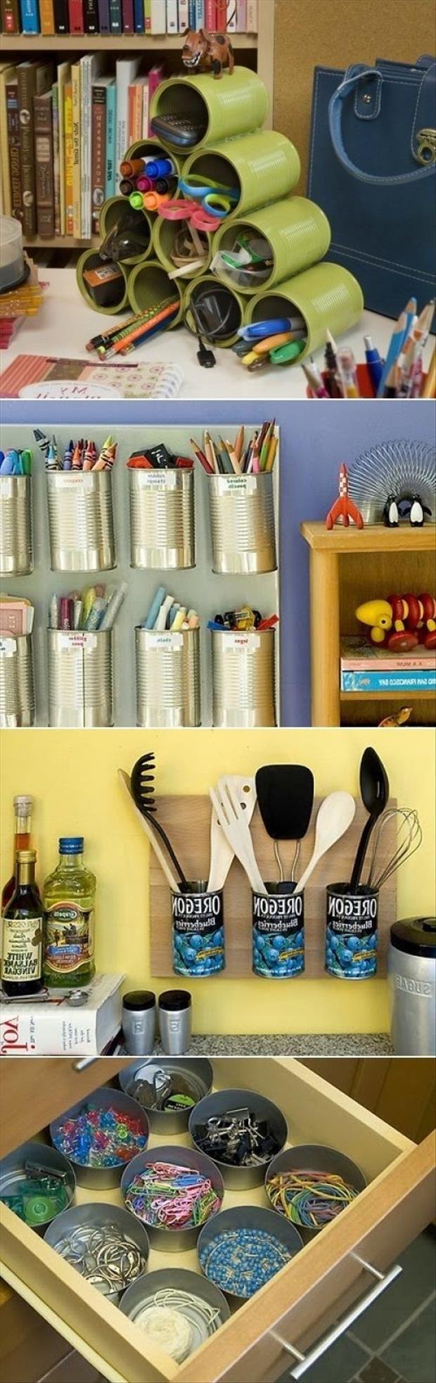 Una manera de organizar las cosas en tu casa.