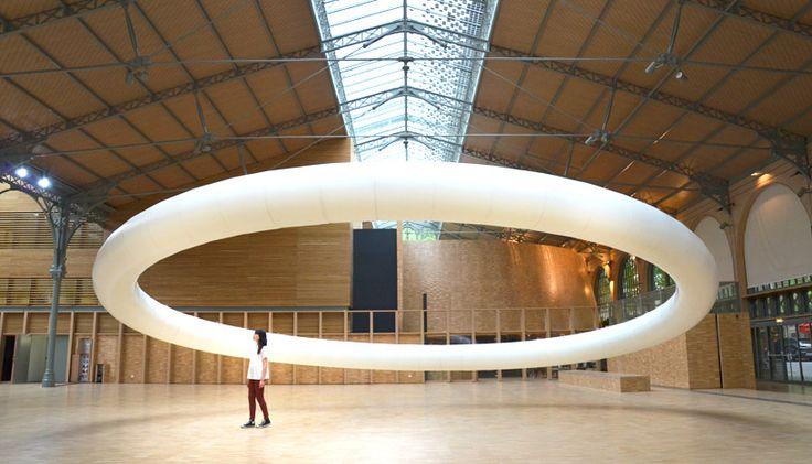 boreal halo by vincent leroy hovers inside paris' carreau du temple