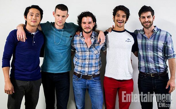 Matt Smith (Doctor Who), Tyler Posey (Teen Wolf), Kit Harington (Game of Thrones), David Guintoli (Grimm), and Steven Yeun (The Walking Dead).   Clicky.