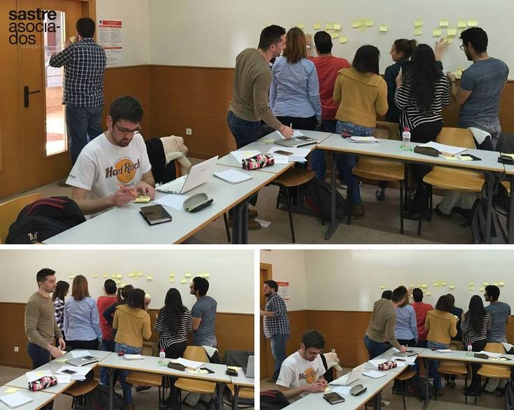 Sesión dinámica de Design Thinking en el Máster de #Marketing de la Universidad Jaime I . #empresas #emprendedores #designthinking