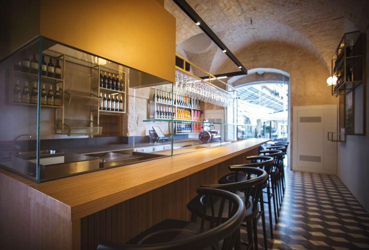 Garibaldi Cafè & Bistrot   Pastina Grandinetti www.grandinetti.it #cementtiles #encaustictiles