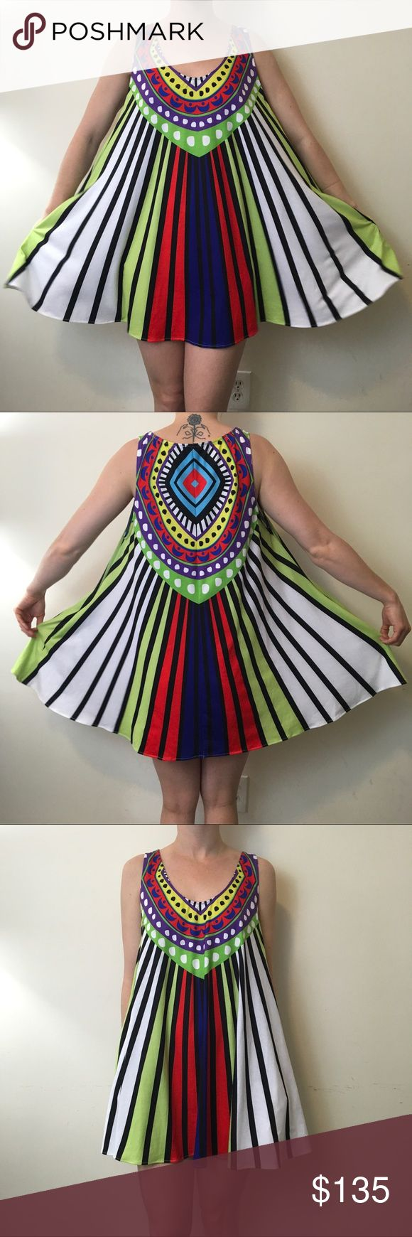 Mara Hoffman Swim Watermelon Striped Circle Dress Mara Hoffman Swim dress with a bold watermelon like print atop in the form of stripes and is not lined. Circle style and was worn lightly on,y a few times! Don't miss this beauty. Pair it with some wooden wedges and a cute bikini and you're all set! Mara Hoffman Dresses Mini