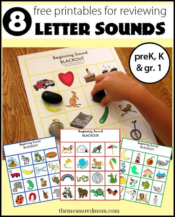 FREE Letter Sounds with Beginning Sound Blackout