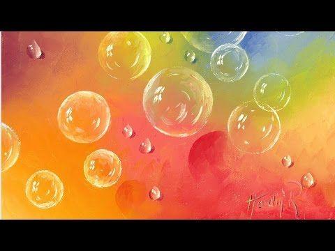 """Ölmalerei Anleitung """"Tanz der Seifenblasen"""" von Herdin Radtke - YouTube"""