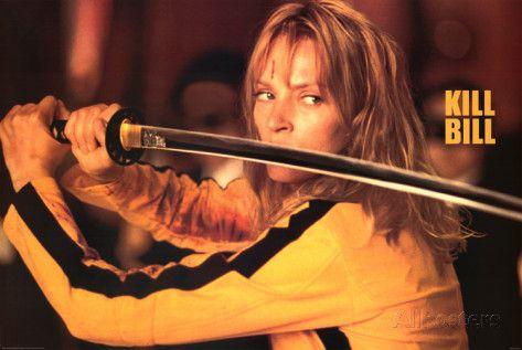 Kill Bill Movie (Uma Thurman w/ Sword) Poster Print Prints at AllPosters.com